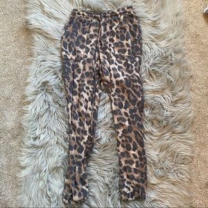 Cheetah joggers. Worn a few times